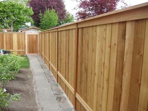 Wooden Fence with Top Cap - San Antonio, TX