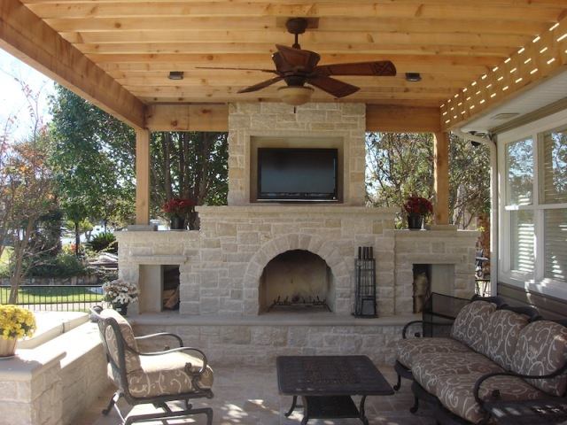 Stone Fireplace in San Antonio