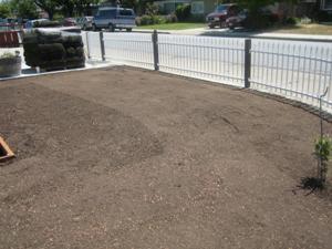 Lawn Soil Leveling