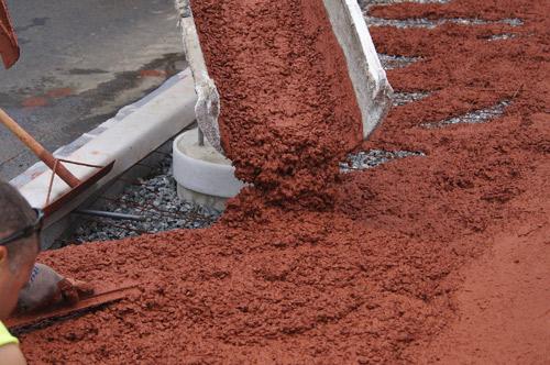 Decorative Colored Concrete Poured