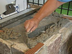 Masonry Mortar being mixed