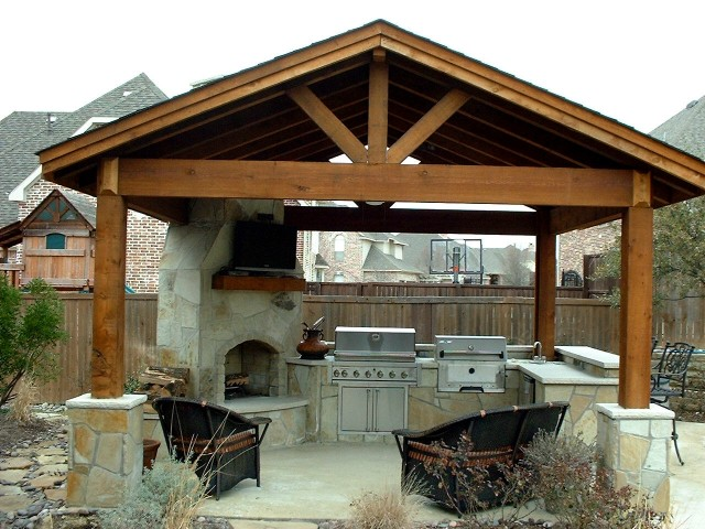 Patio Cover with Full Gable Style