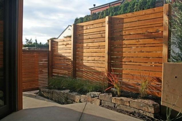 Modern Fence Installation