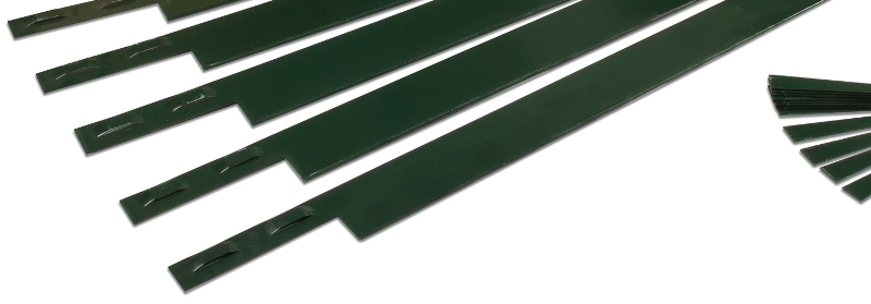 Green Steel Edging used for Landscaping