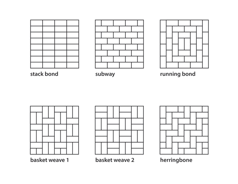 Paver Patterns for Installation