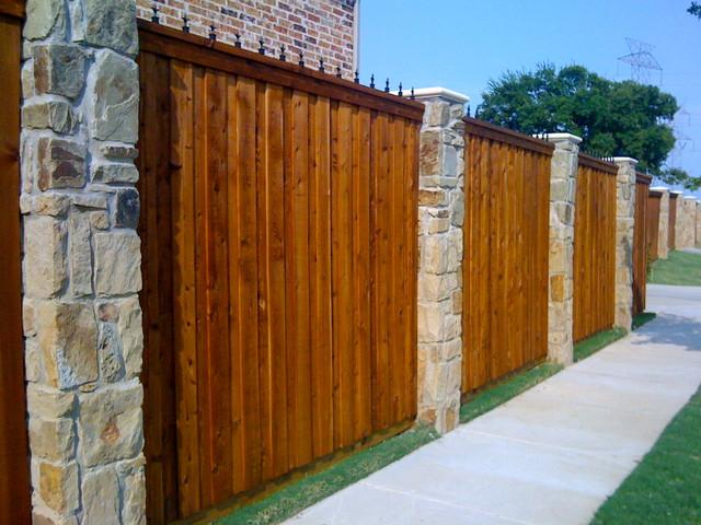 Stone Fence Columns