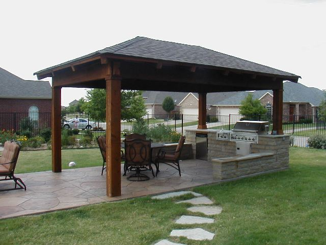 Free Standing Patio Cover with Hip Style