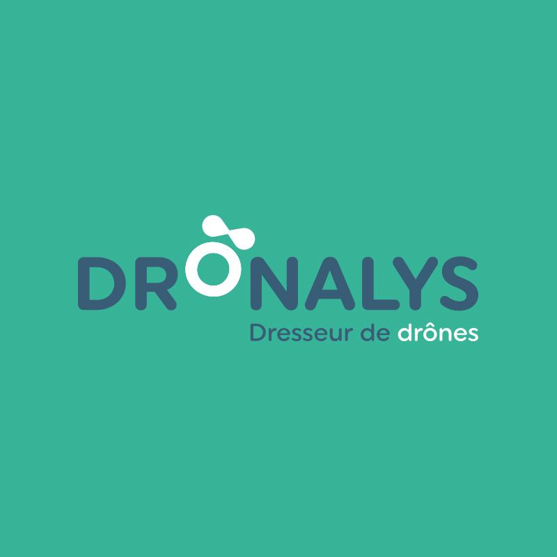 Yobologo Rennes création de logo et identité visuelle pour dronalys société en bretagne