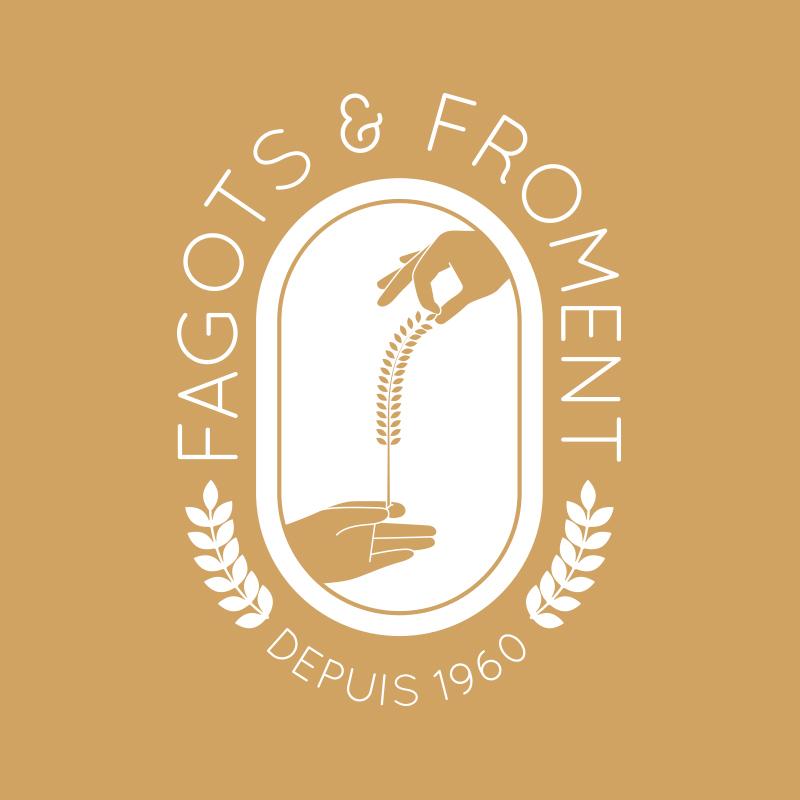 Yobologo Rennes création de logo et identité visuelle pour le boulanger de rennes Fagots & Froments