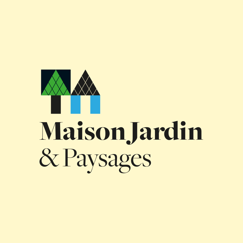 Yobologo Rennes création de logo et identité visuelle pour le paysagiste de rennes Maison Jardin et Paysages