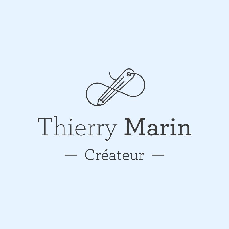 Yobologo Rennes création de logo et identité visuelle pour le couturier Thierry Marin qui travaille en bretagne