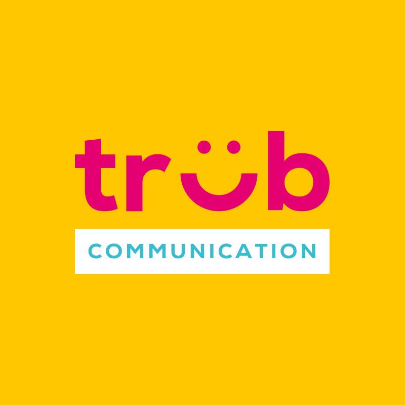 Yobologo Rennes création de logo et identité visuelle pour l'entreprise Trub Communication