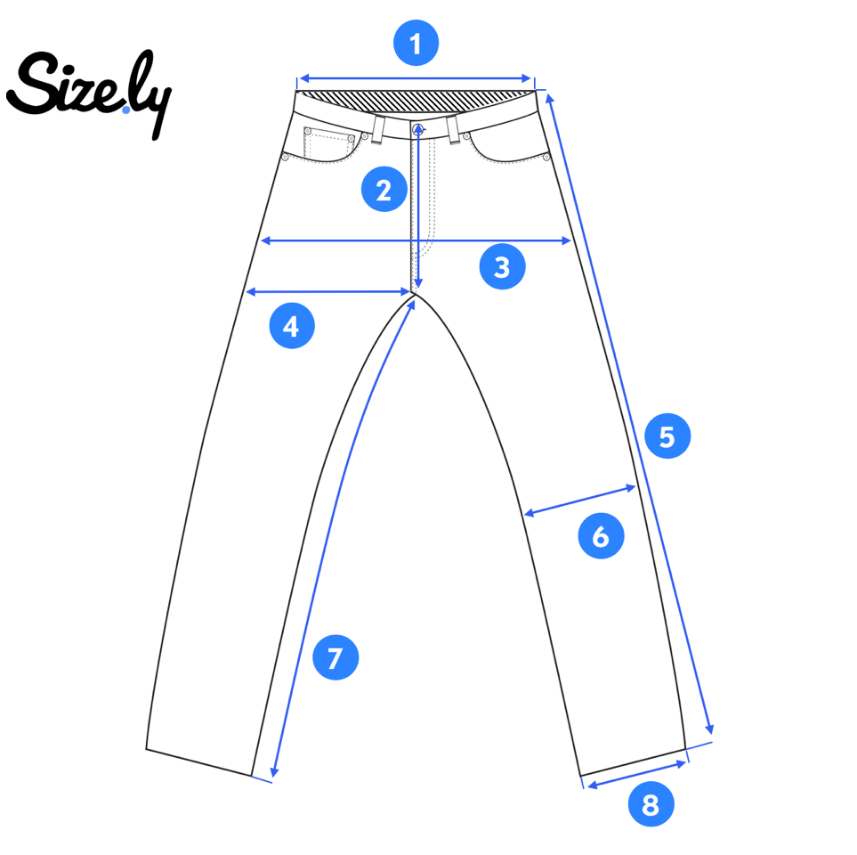 picture of a pair of jeans for taking measurements