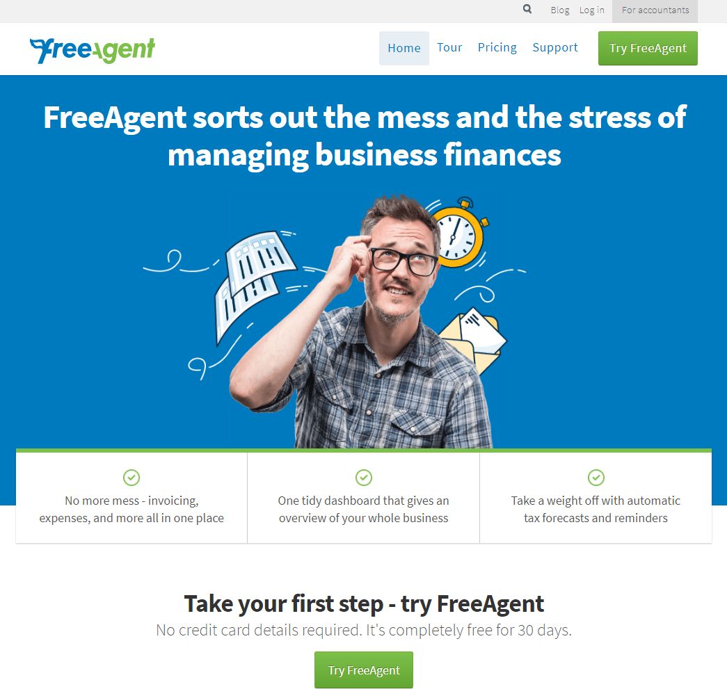 Split Test - FreeAgent - Variation #2