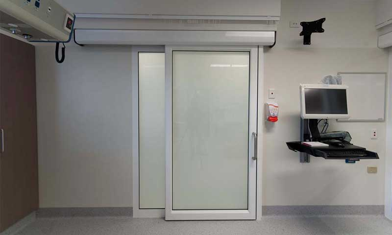 smart glass sliding door