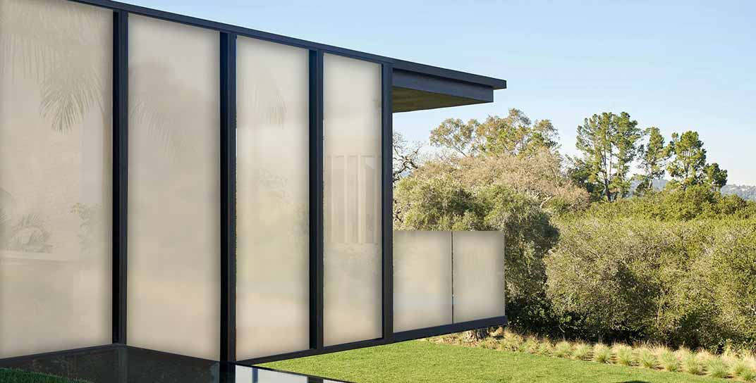 smart glass wall