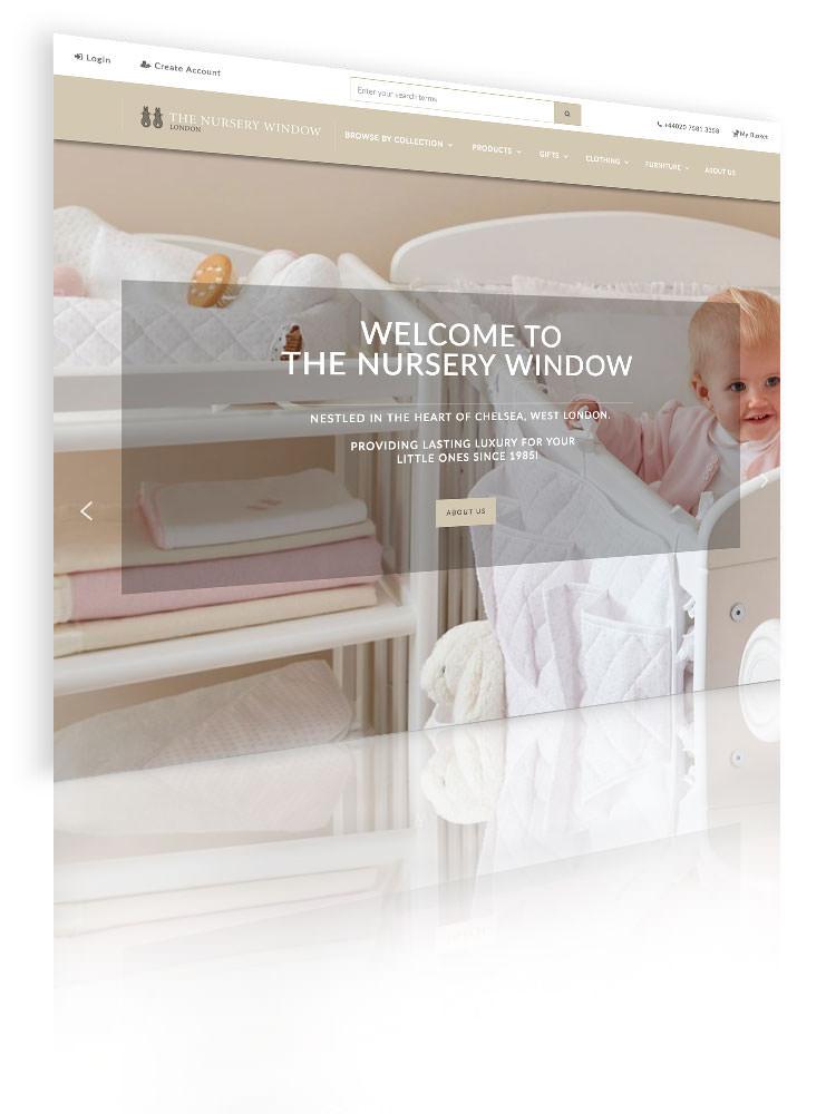 Nursery Window - website screenshot