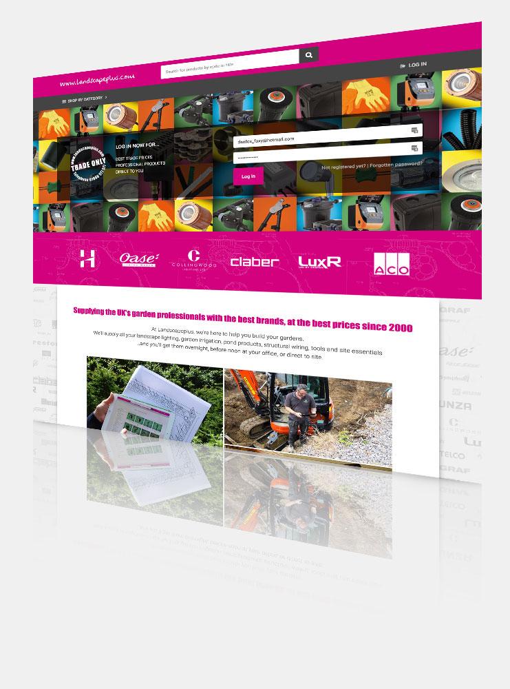 Landscapeplus - website screenshot