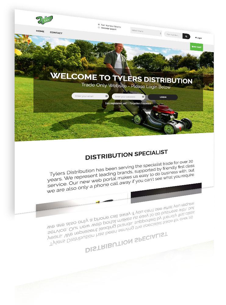 Tylers - website screenshot