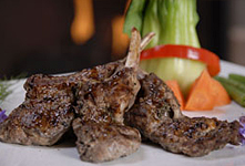 Herb-Marinated Lamb Chops On Roasted Red Skin Potatoes
