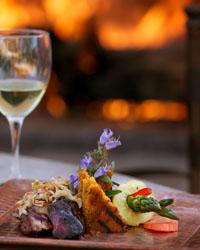Prickly Pear BBQ Glazed Pork Tenderloin with Jalapeno Cornbread & Red Chile Slaw