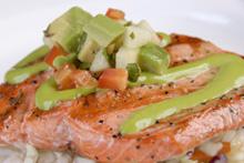 Char Grilled Wild Salmon with Apple Avocado Pico De Gallo