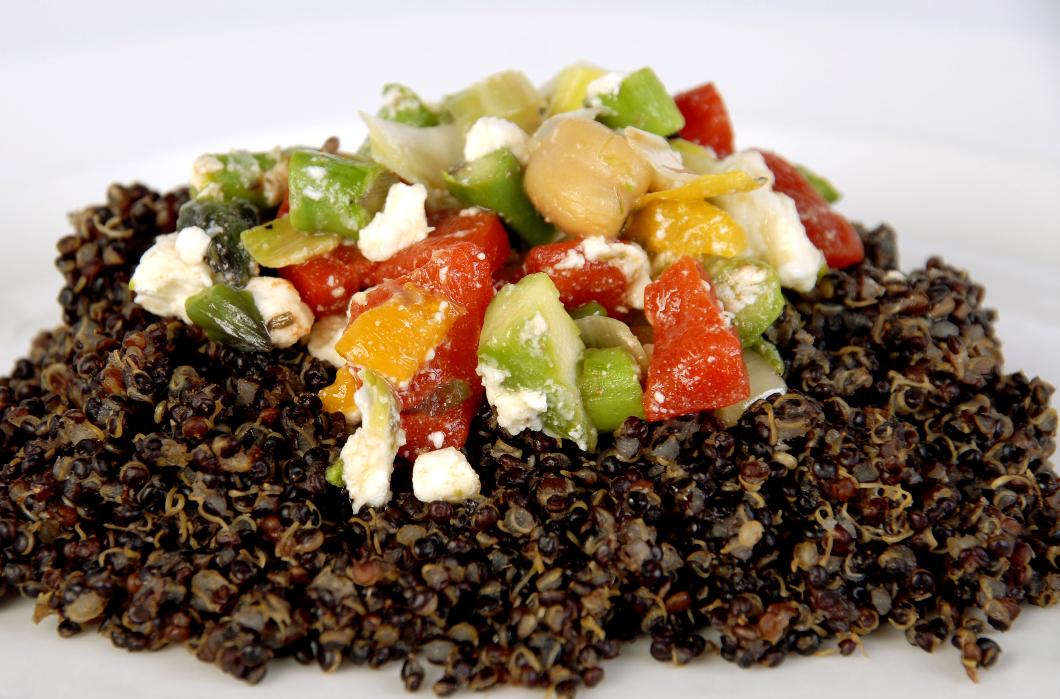Quinoa with Vegetables & Feta