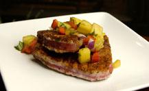 Grilled Ahi Tuna with Caramelized Pineapple Salsa