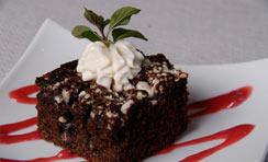 Deep Dark Chocolate Cake with White Chocolate