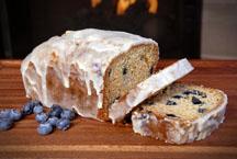 Glazed Lemon Pound Cake with Blueberries