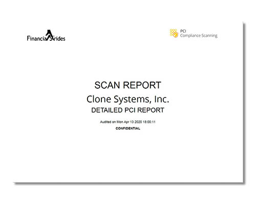 Thumbnail picture of PCI Scan Report