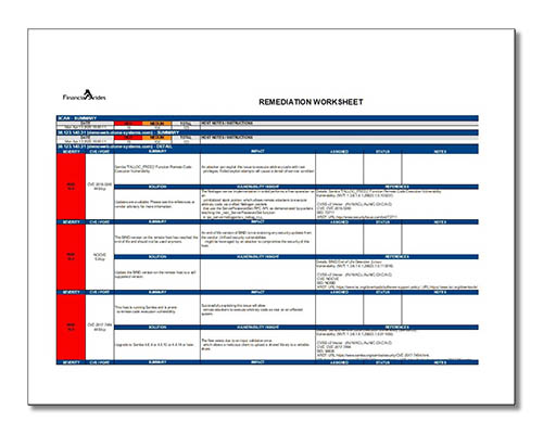 Thumbnail picture of remediation spreadsheet