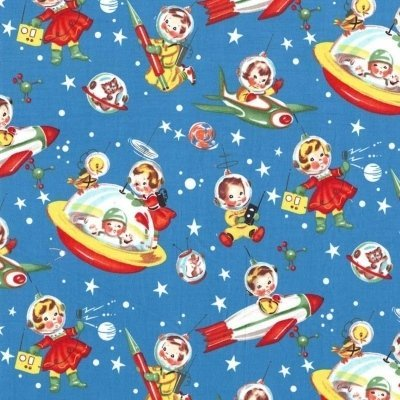Michael Miller Fabric - Retro Rocket Rascals
