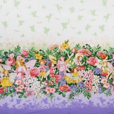 Michael Miller Fabric - Fairy Dreamland Single Border Fairies