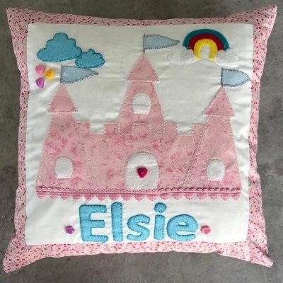 Little Miss Get Stitching Pack - Princess Castle cushion cover