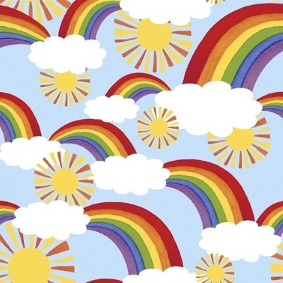 Blank Quilting - No Kind Left Behind - Rainbows, Sun and Clouds