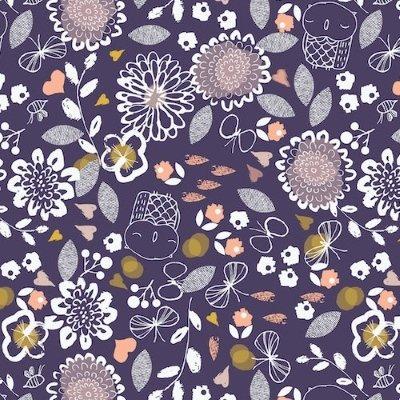 Dashwood Studio - Autumn Rain - Owl and Flowers