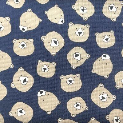 Robert Kaufman - Sevenberry - Bears Heads Indigo