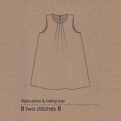 Two stitches frida dress sewing pattern