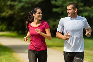 Couple Jogging, Cholesterol Control