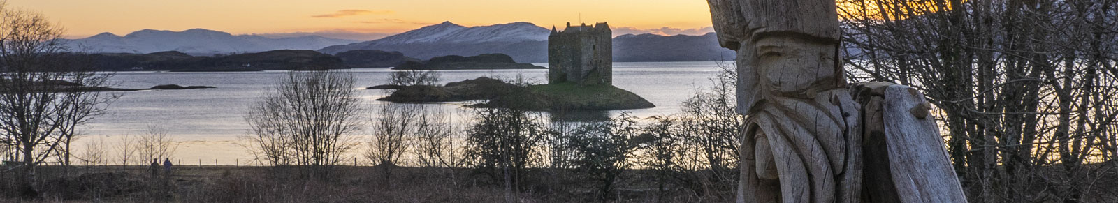 View of Castle Stalker, Appin
