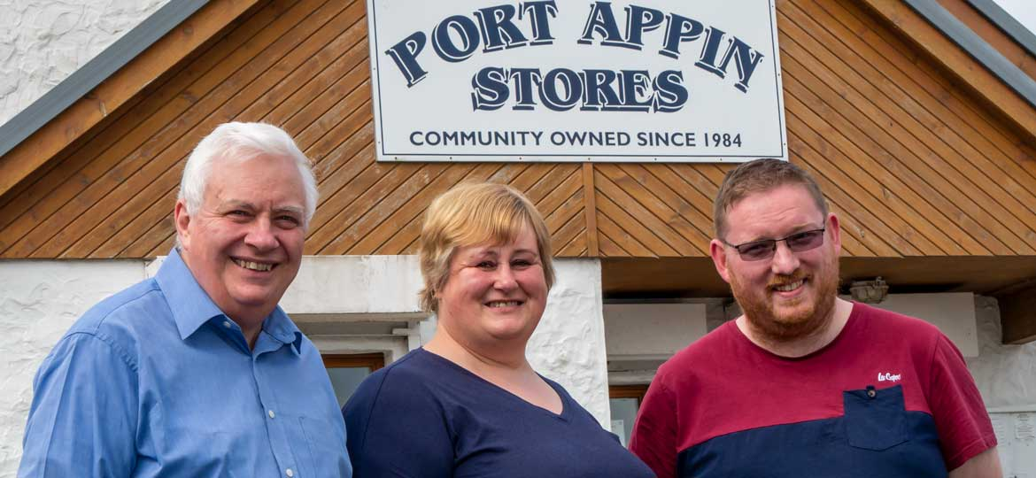 Port Appin Stores friendly, local team look forward to meeting you!