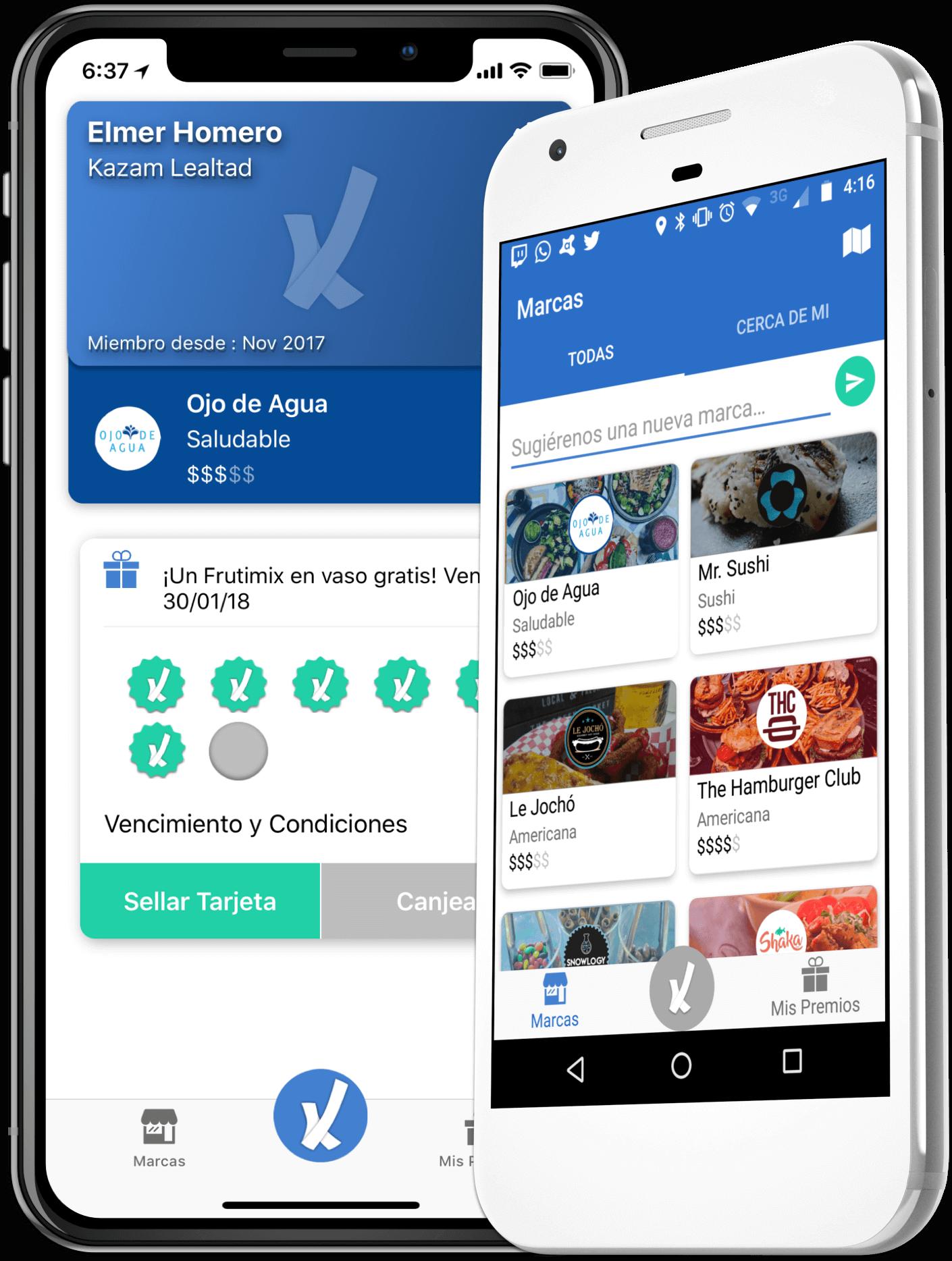 kazam app tarjetas lealtad 1