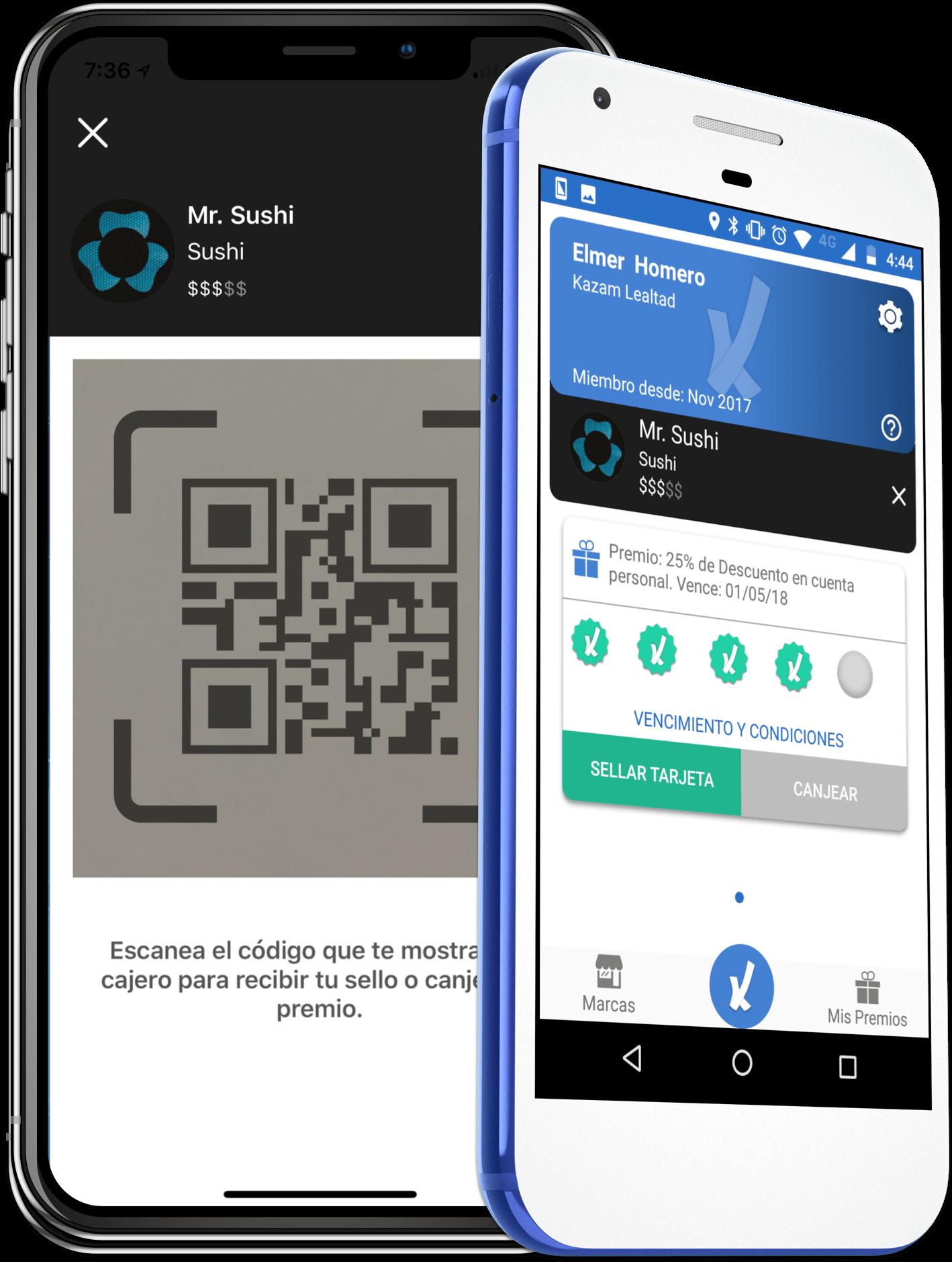 kazam app tarjetas lealtad 2