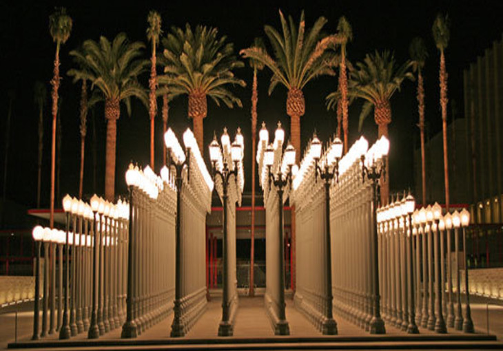 Burden Urban Light at LACMA