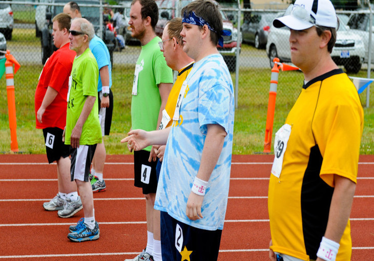 special olympics starting line