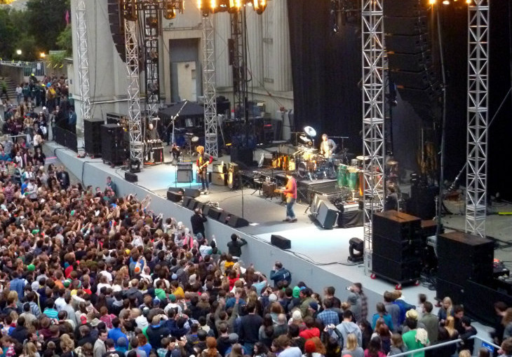 band performing at the greek