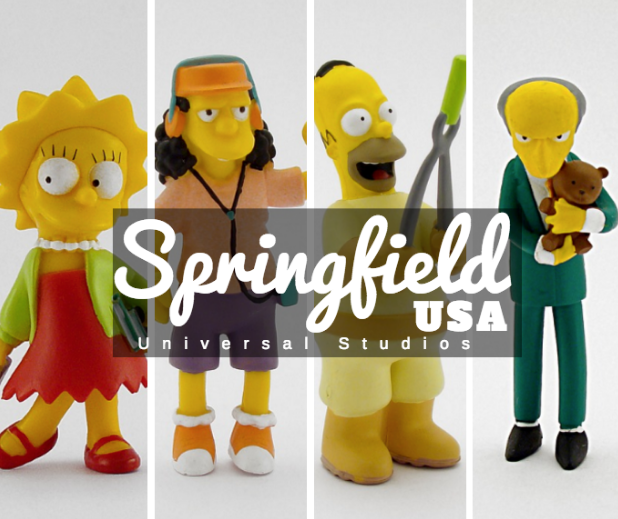 springfield land at universal studios