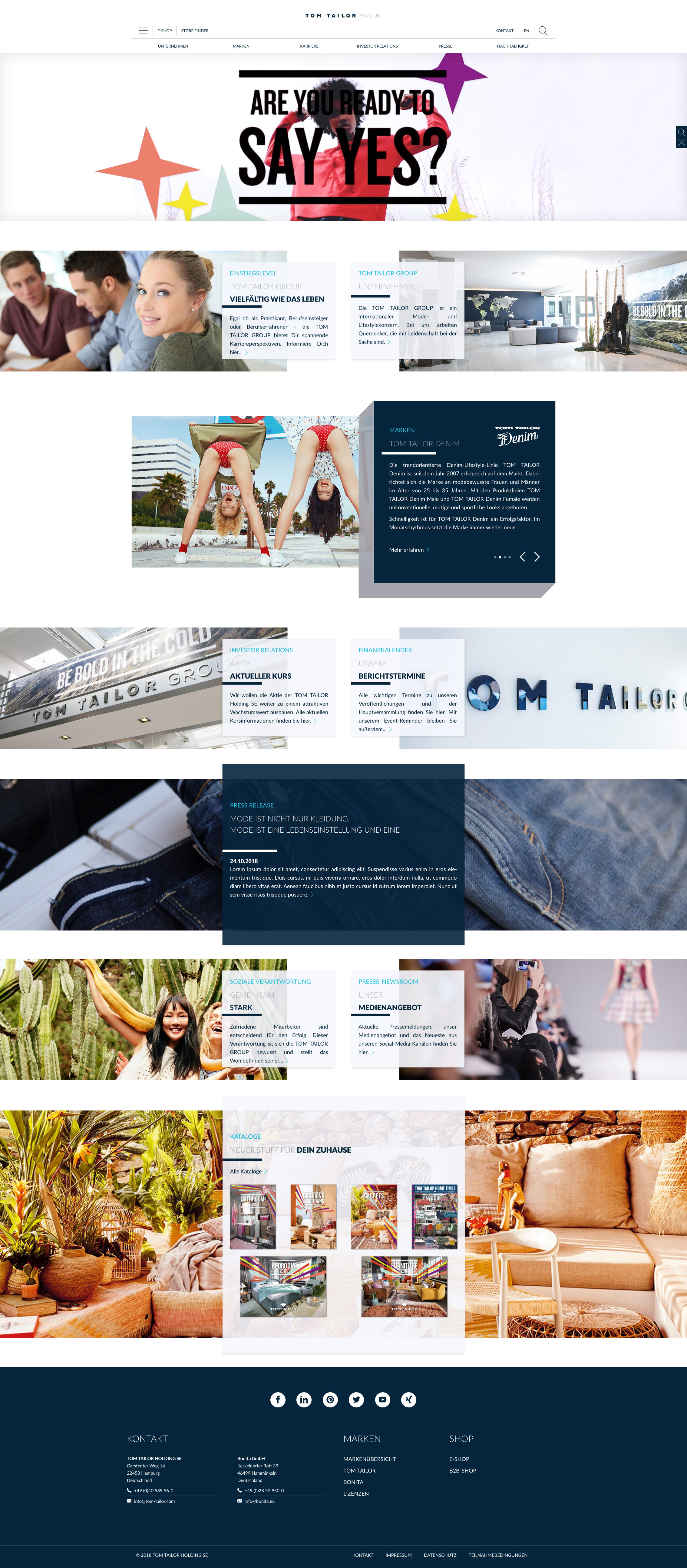 Tom Tailor Group Corporate website