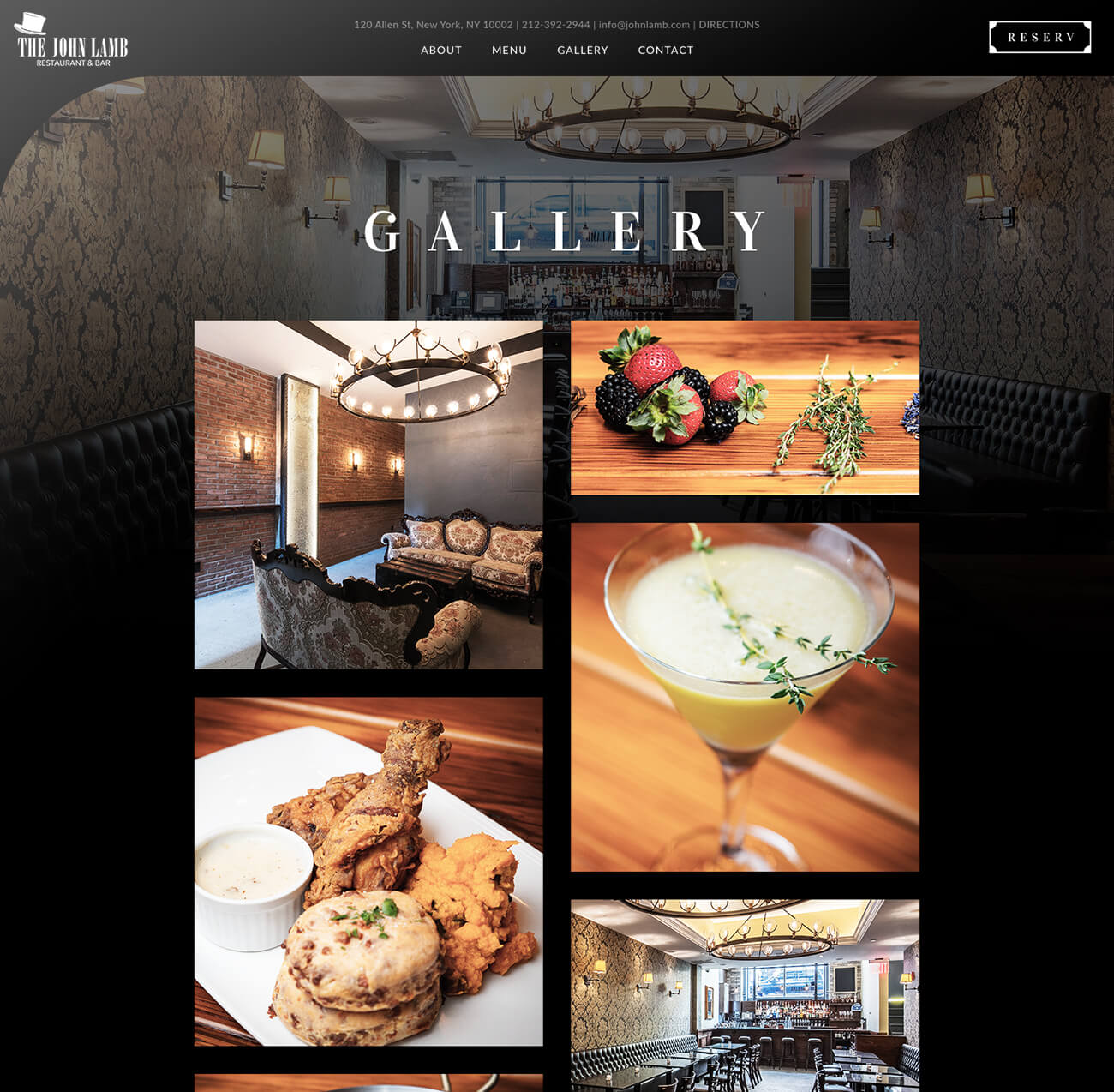 Finsweet restaurant website branding feature for web design